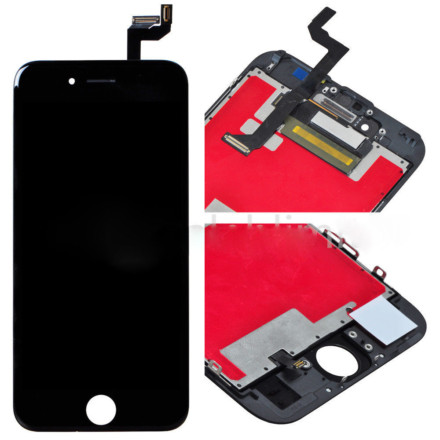 "LCD Display Touch Screen Digitizer Frame Assembly For iPhone 6S 4.7"" Black USA"